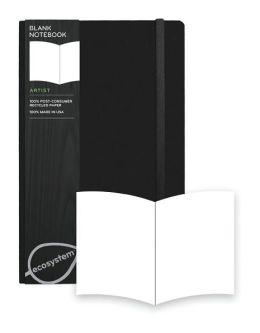 Ecosystem 100% Recycled Hard Blank Onyx Journal (5.25''x8.25'')