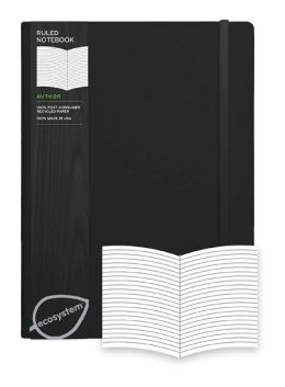 Ecosystem 100% Recycled Flexi Ruled Onyx Journal (7.3''x9.8'')