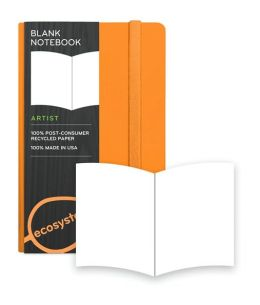 Ecosystem 100% Recycled Flexi Blank Clementine Journal (3.6''x5.6'')