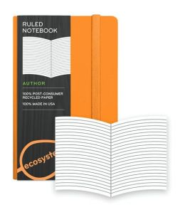 Ecosystem 100% Recycled Hard Ruled Clementine Journal (3.6''x5.6'')