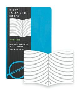Ecosystem 100% Recycled Essay Ruled Lagoon Journal (3.6''x5.6') Set of 3
