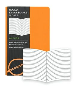 Ecosystem 100% Recycled Essay Ruled Clementine Journal (3.6'x5.6'') Set of 3