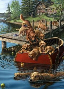 Dog Paddle 1000 Piece Puzzle