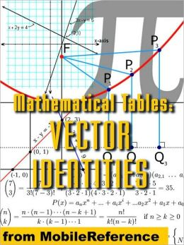 Mathematical Tables: Vector Identities