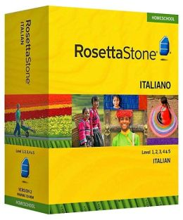 Rosetta Stone Homeschool Version 3 Italian Level 1,2,3,4 and 5 Set: With Audio Companion, Parent Administrative Tools and Headset with Microphone