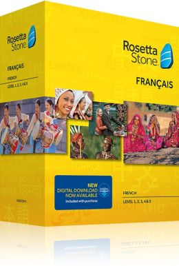 Rosetta Stone French v4 TOTALe - Level 1, 2, 3, 4 & 5 Set - Learn French