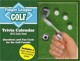 2012 Golf Finger Sports Daily Desk Calendar