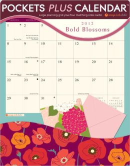2012 Bold Blossoms Pockets Plus Wall Calendar
