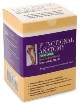 Functional Anatomy Flash Cards: Bones, Joints and Muscles