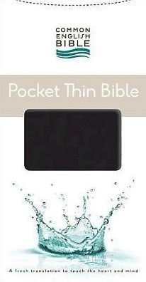 CEB Common English Bible Pocket Thin EcoLeather Black with Zipper