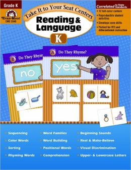 Take It to Your Seat Centers--Reading and Language, Grade K
