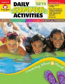 Daily Summer Activities, Moving from 5th to 6th Grade