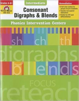 Phonics Intervention Centers: Consonant Diagraphs and Blends, Grades 4-6+