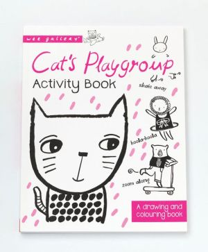 Cat's Playgroup Activity Book: A Drawing and coloring book