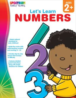 Spectrum Let's Learn Numbers, Ages 2+