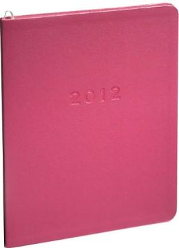 2012 Monthly Large Pink Sand Planner Calendar