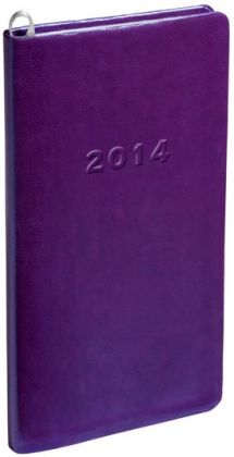 2014 Monthly Pocket Purple Metal Kid Planner