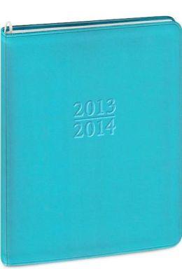 2014 18-Month Weekly Large Blue Metal Kid Family Planner Calendar