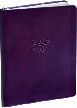 2014 Weekly Large Family Purple Metal Kid Planner