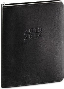 2014 18-Month Monthly Desk Large Black Cambridge Planner Calendar
