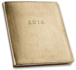 2014 Monthly Large Gold Planner