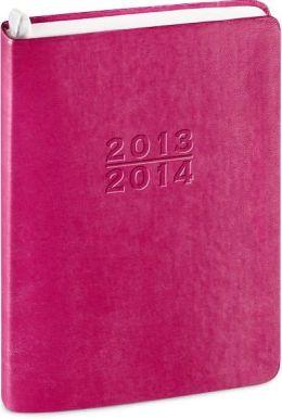 2014 18-Month Weekly Desk Pink Metal Kid Planner Calendar