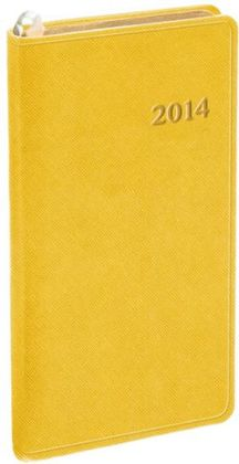 2014 Weekly Pocket Yellow Cartier Planner
