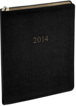 2014 Weekly Large Professional Gray Twill Planner