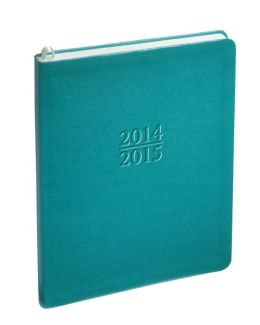 2015 Weekly Large Family Teal Sand Planner