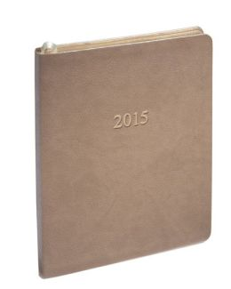2015 Weekly Large Professional Pearl Taupe Planner