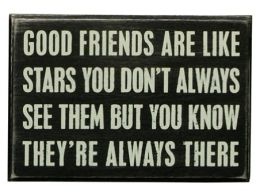 Good Friends Wood Box Sign/Plaque (4x6)