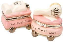 Princess Collection First Tooth and Curl Ceramic Treasure Box
