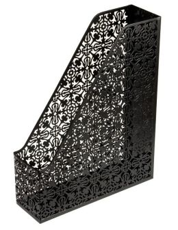 Black Decorative Metal Magazine Rack (13