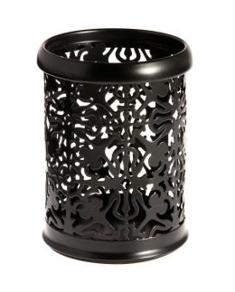 Black Decorative Metal Pencil Cup ( 4.5