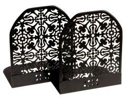Black Decorative Metal Bookends Set of 2 (4 3/4