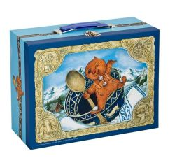 Gingerbread Baby Two Sided Puzzle in Suitcase
