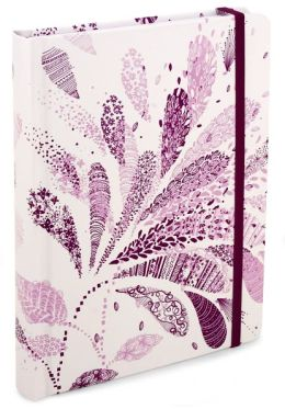 Purple Paisley Flourish Lined Journal (6