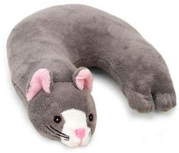 Critter Piller: Gray Cat Childrens Travel Pillow