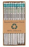 Product Image. Title: Recycled Newspaper No. 2 Pencils - Set of 12