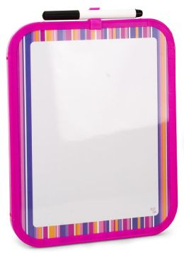 Pink Stripe Dry Erase Board with Marker (8.5x11)
