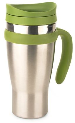 Drivetime Stainless Steel Green Travel Mug
