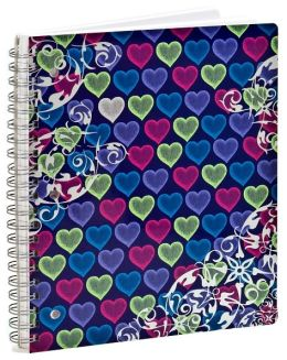 Lacey Hearts Lined Notebook (8.5x11)