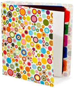 Dotty Pearl 3-Ring Binder with dividers