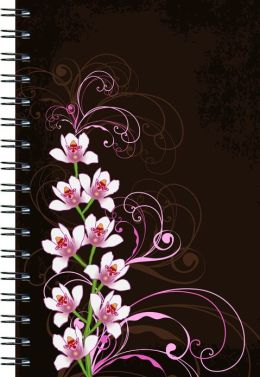 Orchids on Brown Journal - Medium