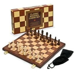 Deluxe Classic Wooden Chess Set