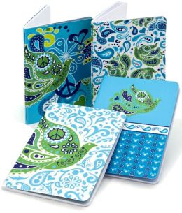 Jonathan Adler Blue Love Dove Miniature Journals Set of 4 (4x6)