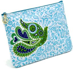 Jonathan Adler Blue Love Dove Embroidered Accessory Pouch (7x10)