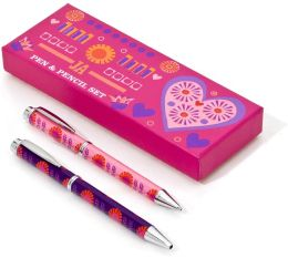 Jonathan Adler Bohemian Bliss Tulip & Sunflower Pen & Pencil Set