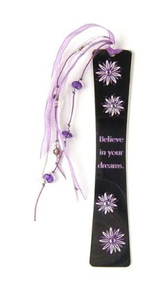 Flora Sparkle Lilac Flowers Metal Bookmark