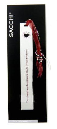 Stones Red Heart Metal Bookmark